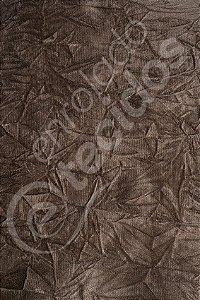 Tecido Suede Amassado Marrom 1,40m de Largura
