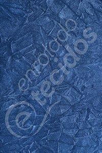 Tecido Suede Amassado Azul 1,40m de Largura
