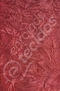 Tecido Suede Amassado Vermelho 1,40m de Largura