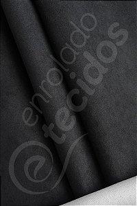 Tecido Suede Liso Preto 1,40m de Largura