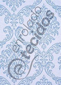 Tecido Jacquard Fio Tinto Medalhão Azul Bebê e Branco 2,80m de Largura