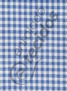 Tecido Jacquard Fio Tinto Xadrez Azul Royal e Branco 2,80m de Largura