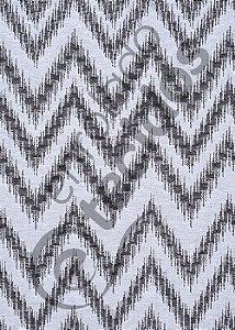 Tecido Jacquard Fio Tinto Chevron Preto e Branco 2,80m de Largura