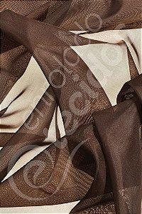 Tecido Voil Marrom Chocolate 3,0m de Largura
