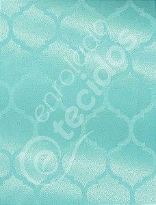Tecido Jacquard Azul Tiffany Geométrico 2,80m de Largura