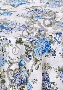 Toalha de Mesa Redonda para Buffet em Tecido Jacquard Estampado Floral  (várias cores e tamanhos)