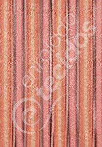 Tecido Jacquard Estampado Listrado Composé Madeira 1,40m de Largura