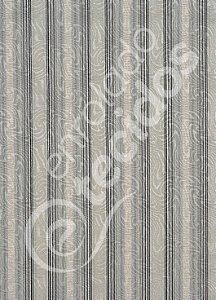 Tecido Jacquard Estampado Listrado Composé Madeira Cinza 1,40m de Largura