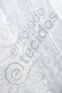 Renda Floral Branco 3,0m de Largura