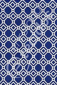 Tecido D'Acqua Impermeável Geométrico Azul Marinho 1,40m de Largura