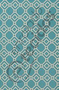 Tecido D'Acqua Impermeável Geométrico Azul Turquesa 1,40m de Largura