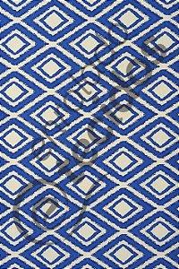Tecido D'Acqua Impermeável Losango Azul Royal 1,40m de Largura