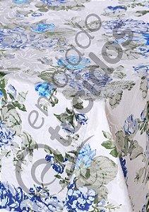 Toalha de Mesa em Jacquard Floral Estampado Quadrada (várias cores e tamanhos)