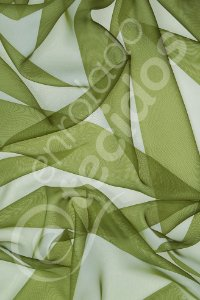 Tecido Voil Verde Musgo 3,0m de Largura