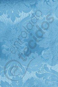 Tecido Jacquard Azul Piscina Medalhão ou Listrado 2,80m de Largura