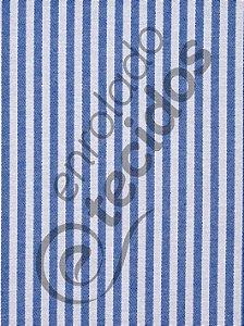 Tecido Jacquard Fio Tinto Listrado Estreito Azul Royal e Branco 2,80m de Largura