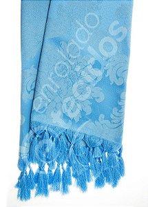 Manta para Sofá em Tecido Jacquard Azul Frozen 1,80m X 1,40m