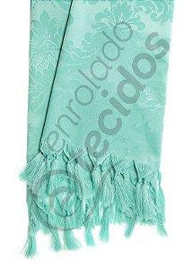 Manta para Sofá em Tecido Jacquard Azul Tiffany 1,80m X 1,40m