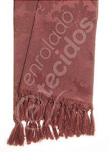 Manta para Sofá em Tecido Jacquard Vinho Marsala 1,80m X 1,40m
