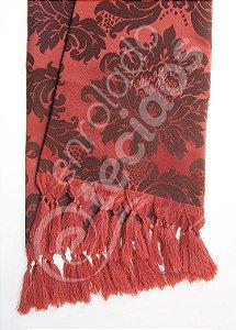 Manta para Sofá em Tecido Jacquard Vermelho e Preto 1,80m X 1,40m