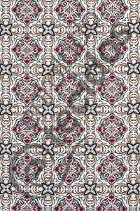 Tecido Jacquard Estampado Azulejo Português Marsala 1,40m de Largura