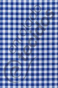 Tecido Gorgurinho Xadrez Azul Royal e Branco 1,50m de Largura