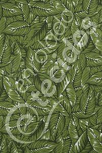 Tecido Gorgurinho Floral Folhagem Verde 1,50m de Largura
