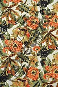 Tecido Gorgurinho Floral Tucano 1,50m de Largura