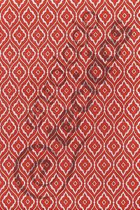Tecido Jacquard Estampado Arabesco Vermelho Alaranjado 1,40m de Largura