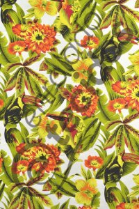 Tecido Jacquard Estampado Floral Tucano 1,40m de Largura
