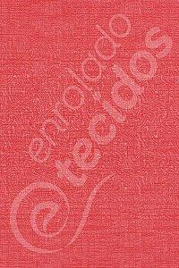Tecido Jacquard Estampado Liso Vermelho Alaranjado 1,40m de Largura