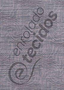 Tecido Jacquard Estampado Liso Cinza 1,40m de Largura