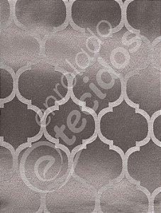 Tecido Jacquard Cinza e Crú Geométrico 2,80m de Largura