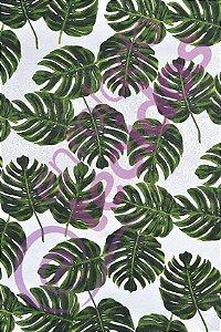 Tecido Jacquard Estampado Floral Costela de Adão 1,40m de Largura