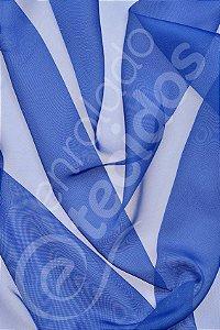 Tecido Voil Azul Royal 3,0m de Largura