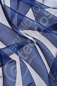 Tecido Voil Azul Marinho 3,0m de Largura