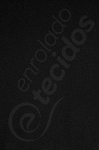 Tecido Sarja Peletizada Liso Preto 1,6m de Largura