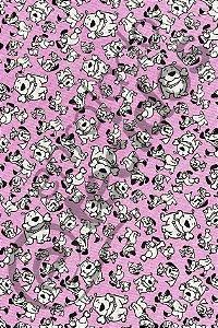Tecido Gorgurinho PET Cachorro Lilás 1,50m de Largura
