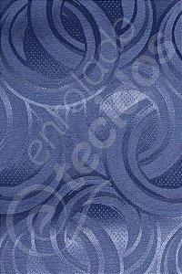 Tecido Jacquard Azul Marinho Argolas 2,80m de Largura