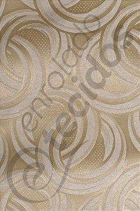Tecido Jacquard Ouro Velho Argolas 2,80m de Largura