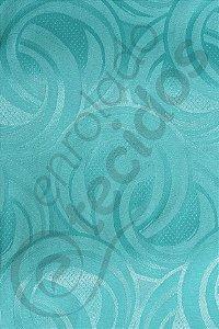 Tecido Jacquard Azul Tiffany Argolas 2,80m de Largura