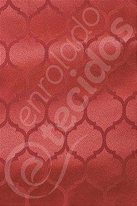 Tecido Jacquard Vermelho Geométrico 2,80m de Largura