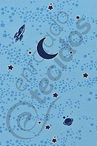 Tecido Shining Wall Sky Céu Azul (brilha no escuro) 1,4m de Largura
