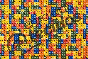 Tecido Jacquard Estampado Lego  2,80m de Largura