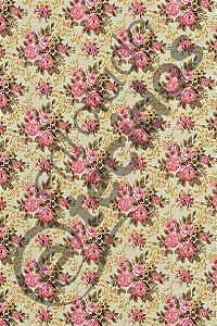 Tecido Gorgurinho Floral Vintage Amarelo e Rosa 1,50m de Largura