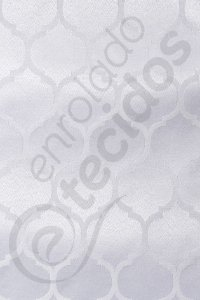 Tecido Jacquard Branco Geométrico 2,80m de Largura