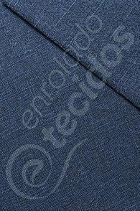 Tecido Linen Look Rustik Azul Carbono 1,45m de Largura