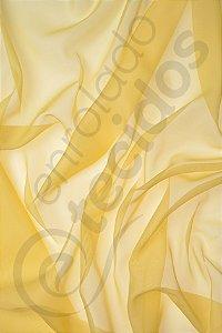Tecido Voil Amarelo 3,0m de Largura