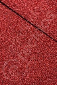 Tecido Linen Look Rustik Vermelho 1,45m de Largura
