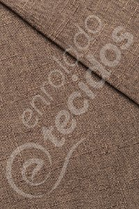 Tecido Linen Look Rustik Marrom Chocolate 1,45m de Largura